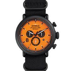 THE RUNWELL CONTRAST CHRONO 47mm Orange Chronograph Watch