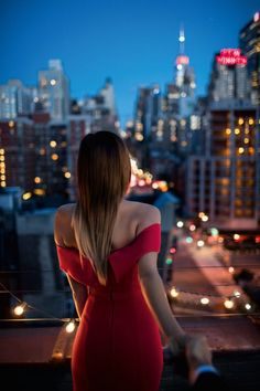 Dear Future Husband, this is my dream proposal setting omg Late Night, rooftop, City Lights, Red dress and just me and my you ❤️ X DN