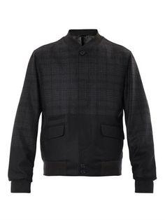 Ombré checked wool bomber jacket | Alexander McQueen | MATCHES...