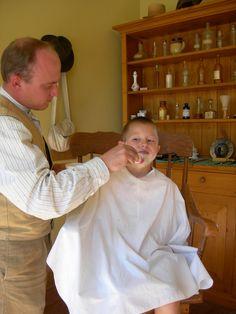 Boy shaved manhood