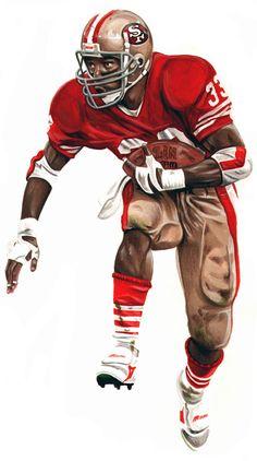 Roger Craig by Dan Tearle 49ers Players, Nfl Football Players, Football Memes, Football Boys, School Football, Football Defense, Football Stuff, Sports Memes, Baseball