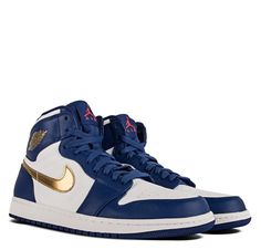 c44a8493dcd7 Air Jordan 1 Retro High Deep Royal Blue Metallic Gold Coin White