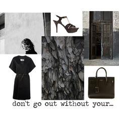 """""""style"""" by jofrebcn  #saintlaurent #bags #sandals #coats #black www.jofre.eu"""