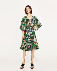 ZARA - WOMAN - MULTICOLORED FLORAL SKIRT