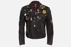 mcq by alexander mcqueen leather punk biker jacket