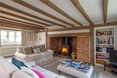 5 bedroom detached house for sale in Byworth, Petworth, West Sussex, - Rightmove. Decor Interior Design, Interior Decorating, Farmhouse Renovation, English Decor, Cottage Interiors, Living Room Decor, Living Rooms, Detached House, My Dream Home
