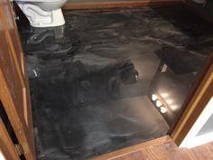 Metallic Epoxy Stained Bathroom Floor in Findlay, Ohio.