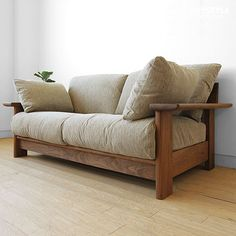 joystyle-interior: Full cover ring sofa domestic production sofa wooden sofa sofa net shop-limited original setting of the frame made by walnut materials walnut pure wood Wood Sofa, Wooden Sofa Set Designs, Sofa Frame, Sofa Design, Furniture, Wooden Sofa, Wooden Sofa Designs, Sofa Domestic, Sofa Wood Frame