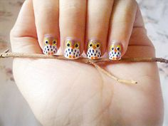 Owl Nails! These are so cute