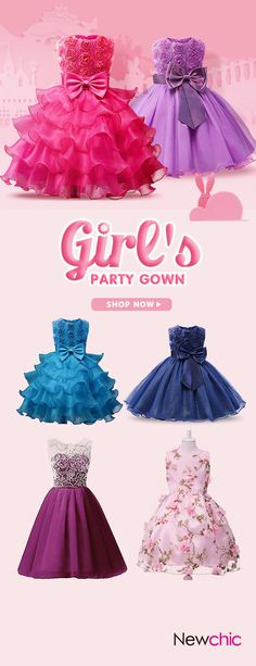 50%OFF Girls Lace Princess Party Dresses Toddler Formal Dress Ball Gown#dresses #party #kids#ball gown