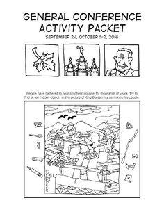 Paquete de Actividades para la Conferencia General Por: Mormon Cartoonist ¡EN ESPAÑOL!