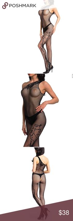 fca78b33552 Crotchless Lace Fishnet Bodystocking Fishnet Bodystocking Material  Nylon +  spandex Care  Hand wash in