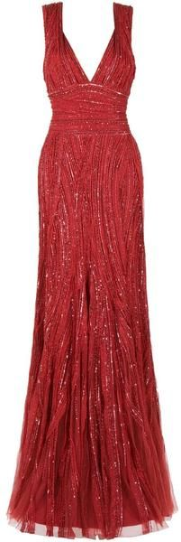 EASTLAND Sequin Tulle Gown