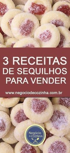 Meet three delicious recipes of easy and super cheap to make . Cookie Recipes, Dessert Recipes, Desserts, Portuguese Recipes, Kitchen Recipes, Food Hacks, Love Food, Sweet Recipes, Biscuits