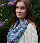 Wavy Garden Shawl using Beaded Silk & Sequins Light and Supermerino.