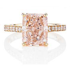 DB Classic Pavé Radiant Fancy Pink Ring