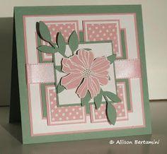 Embellished Paper: Sage and Pink Floral