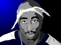 Tupac Shakur Pop Art Drawing