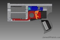 James Patrick is bound to turn some heads with his Washbear revolver, the world's first repeating firearm capable of firing up to 8 bullets without stopping to reload. Aircraft Design, Cool Guns, Digital Trends, Cool Tech, First World, Firearms, 3d Printer, Hand Guns, Weapons