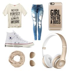 """"""""""" by kimberbone ❤ liked on Polyvore featuring Wet Seal, Converse, Casetify, maurices and Ray-Ban"""