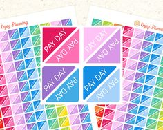 Printable Pay Day stickers Corner Planner Stickers Printable Pay day planner stickers Pay Day Printable Planner Sticker Erin Condren Planner by EnjoyPlanning on Etsy