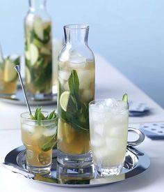 Barbados Punch & Spring Fling Recipe. Key Cocktail Ingredients: Rum, Lime, Apple, Mint