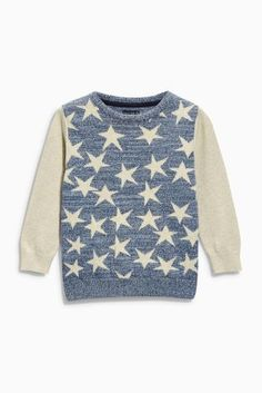 Buy Blue/Stone Star Crew (3mths-6yrs) (3mths-6yrs) online today at Next: Portugal