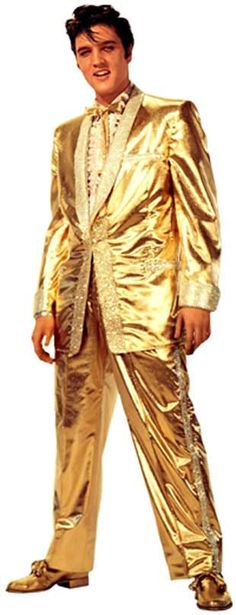 elvis presley gold jump suit - Google Search