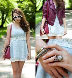 Sheinside Dress & Bag, Zero Uv Sunnies, Jacket
