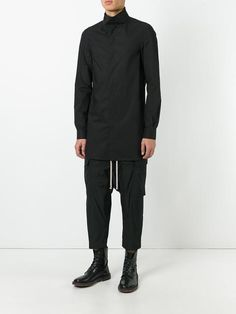 Rick Owens drop-crotch cropped cargo trousers