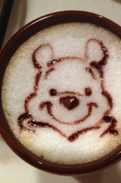 Pooh Bear Latte Art