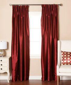 Look at this #zulilyfind! Burgundy Dupioni Pinch-Pleat Blackout Curtain Panel - Set of Two #zulilyfinds