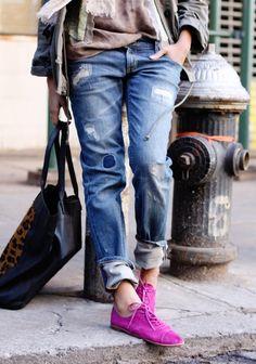 shoes shoes shoes with boyfriend jeans