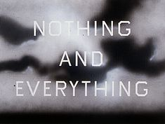 Nothing and Everything | Ed Ruscha _