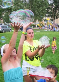 More bubbles from the mini Bubble Tower at the Eagle, CO Musketeer Gripweed concert in the park. Big Bubbles, Best Cleaning Products, Musketeers, World's Biggest, Eagle, Tower, Entertainment, Park, Concert