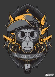 Monkey - Dark Creepy Illustrations by Blackout Brother
