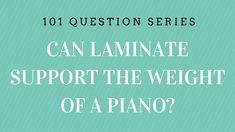 Can laminate support the weight of a piano? laminate DIY HowTo - How to Tutorials Diy Flooring 101, Laminate Flooring, Floors, Best Laminate, Diy Tutorial, Piano, Canning, This Or That Questions, Dining Room