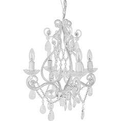 Vintage Style Mini Chandelier - White Color, Four Bulbs - http://ynueco.net/vintage-style-mini-chandelier-white-color-four-bulbs/