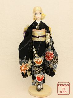 *KIMONOnoMIRAI* Yuzen FURISO for Barbie,Fashion Royalty,FR Geisha,dolls,Japan #KIMONOnoMIRAI