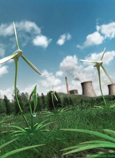 Sustainable energy sources can become viable with government subsidies and tax incentives.