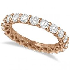 Luxury Diamond Eternity Anniversary Ring Band 14k Rose & yellow Gold rings~ some day ...to go with my white gold band!