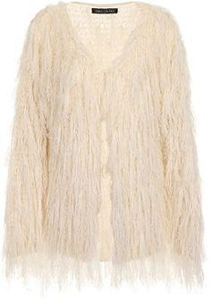 Womens cream knitted ragged jacket from Dorothy Perkins - £38 at ClothingByColour.com