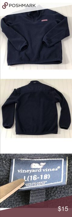Vinyard Vines Girls size L 16 18 Fleece pullover Navy armpit to pit: 18' length: 22' no holes or stains   LL Vineyard Vines Shirts & Tops Sweatshirts & Hoodies