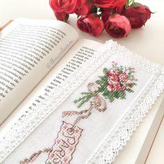 Cross stitch / kanaviçe kitap ayracı