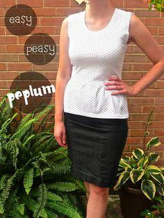 wunderbar: Easy Peasy Peplum