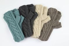 hand knit 'cable' hand warmers by chi chi moi | notonthehighstreet.com