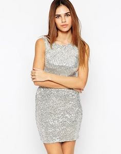 Lashes of London Sequin Dress - Silver