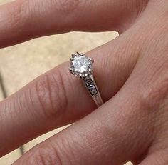 @@@Isabelle - Romantic at Heart like new 1.15 carat diamond engagement ring@@@ - $1500