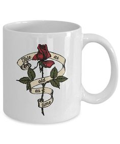 TALE AS OLD AS TIME - Beauty and the Beast Enchanted Rose Mug etsy.com/shop/mousegears