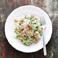 Recept - Risotto met kip en walnoten - AllerhandeLekker en simpel alleen de volgende keer doe ik geen wortel erin